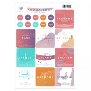 Mymakes Aroma Yoga stickers EN