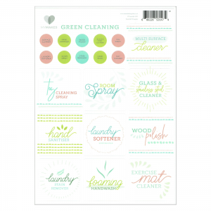 Mymakes Green Cleaning stickers EN