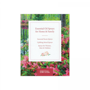 Essential oil sprays for home & family booklet front