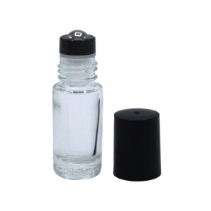 5 ml clear glas new style metal roll on