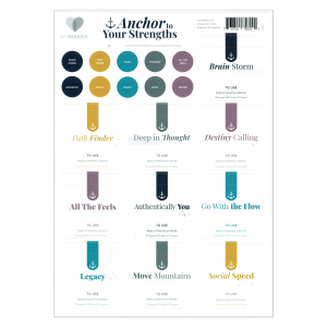Mymakes Anchor to your strenghts the blends Labels EN